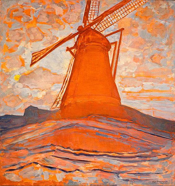 Moulin de Piet Mondrian (1917) au musée d'art moderne d'Amsterdam.