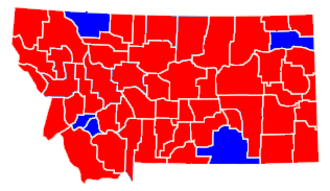 United States presidential election in Montana, 2000 - Image: Montana presidential 2000
