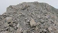 Monte-Pasubio Italienische Seite des Eselsrücken nach der Sprengung.JPG