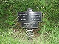 Montgomery Canal 6 mile milepost - geograph.org.uk - 580291.jpg