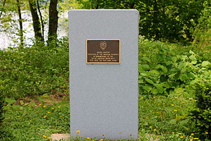 Bloomsburg, Pennsylvania - A monument set up by the Daughters of the American Colonists honoring Native American settlement in Bloomsburg
