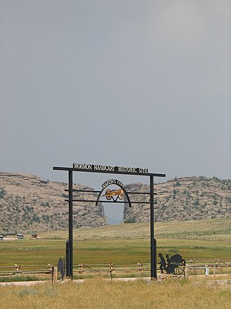 Devil's Gate (Wyoming) - Image: Mormon Handcart Historical Site 1