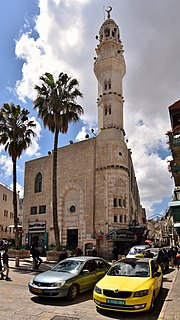 Mosque of Omar (Bethlehem) mosque in the Old City of Bethlehem, West Bank, Palestinian Territories