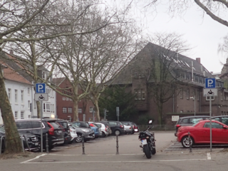 Motorradparkplatz Moers P11 Haagstraße Kastellplatz