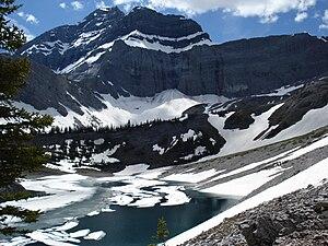 Mount Galatea - Mount Galatea from Galatea Lakes in July 2007