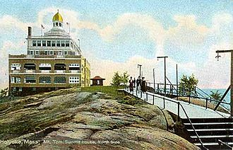 Mount Tom (Massachusetts) - The Mount Tom Summit House. Postcard dated 1898–1900.