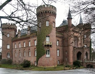 Moyland Castle - Moyland Castle, view from the south (March 2005)