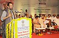 Mukhtar Abbas Naqvi addressing the gathering at the inauguration of the Exhibition-cum-awareness programme on three years of Good Governance, in Hyderabad.jpg