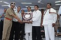 Mukul Roy presenting the Security Shield to Northern Railway, at the 57th Railway Week National Function-2012, in New Delhi. The Ministers of State for Railways.jpg