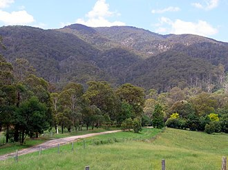 Biamanga National Park - Mumbulla Mountain from the Princes Highway, Australia