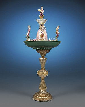 Murano glass - Murano Glass Fountain with Four Seasons. Circa 1940