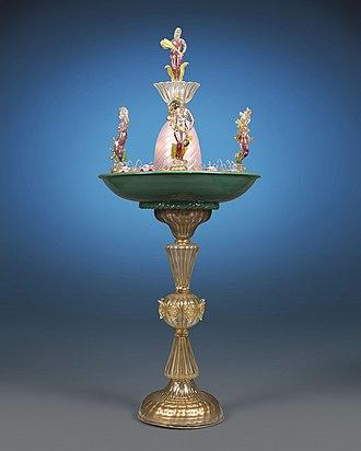Murano glass - Murano Glass Fountain with Four Seasons. Circa 1940