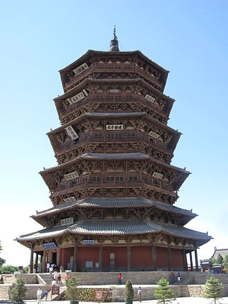 Shanxi - The Pagoda of Fogong Temple, Ying County, built in 1056.