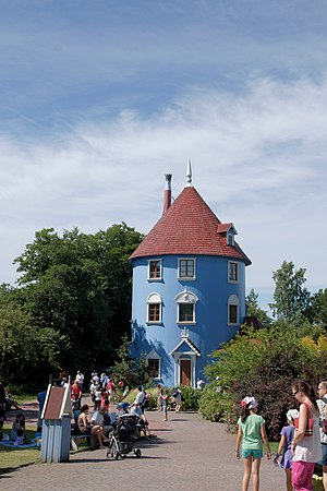 Moomins -  Moomin House in Moomin World, Naantali, Finland