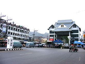 Mae Sai District - Myanmar-Thailand bridge in Mae Sai