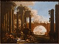 Mythological Figures Among Ruins, by Alessandro Magnasco and Clemente Spera, late 1690s, oil on canvas - Blanton Museum of Art - Austin, Texas - DSC08022.jpg