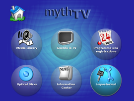 Screenshot di MythTV