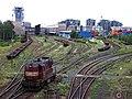 Nákladové nádraží Žižkov, z mostu ulice U nákladového nádraží (01).jpg