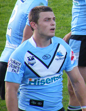 Nathan Gardner - Gardner while playing for the Sharks in 2010