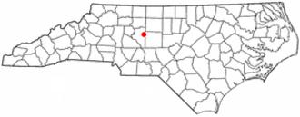 Thomasville, North Carolina - Image: NC Map doton Thomasville