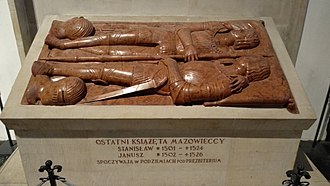 Mazovia - Tombstone of Janusz III and his brother Stanisław in St. John's Archcathedral, Warsaw