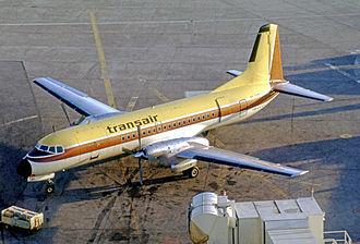 Transair (Canada) - Transair NAMC YS-11A turboprop airliner at Toronto (Malton) Airport in 1971