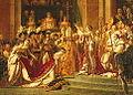 Napoleon I kröns till kejsare, målning av Jacques Louis David 1805-07.jpg