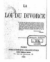 Loi Alfred Naquet
