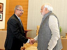 Narendra Modi Met Mr. Waytha Moorthy, who serves as Deputy Minister in Malaysia's PMO.jpg
