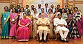 Narendra Modi in a group photograph at an informal interaction with the National Awardee Teachers, on eve of the Teachers' Day, in New Delhi. The Union Minister for Human Resource Development (6).jpg