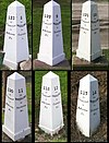 National Road Mile Markers Nos. 8, 9, 10, 11, 13, 14