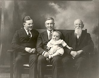 Nelson Story - Three generations of Storys—Nelson Sr., Walter and T. Byron, and Malcolm Story