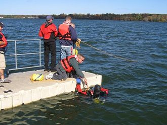 Underwater search and recovery - Controlling an underwater search from the jetty
