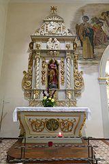 autel-retable latéral gauche de la Vierge avec statue de la Vierge de l'Immaculée Conception à Neuve-Église