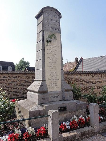Neuvillette (Aisne) monument aux morts