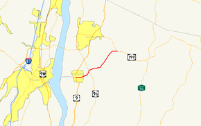 NY 308 follows a southwest–northeast alignment from US 9 in Rhinebeck, a village located across the Hudson River from the city of Kingston, to NY 199 southeast of Red Hook. It intersects NY 9G just east of Rhinebeck.
