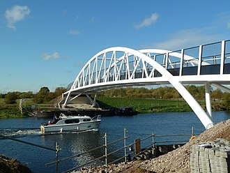 Derwent Mouth - The new Long Horse Bridge in 2011