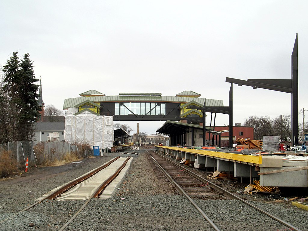 File new station construction at wallingford december 2016 jpg wikipedia for Construction