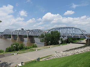 Newport Southbank Bridge - The bridge as viewed from Newport, Kentucky
