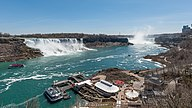 Niagara Falls and cruise terminal, North view 20170418 1.jpg