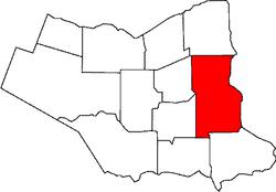 Location of Niagara Falls in the Niagara Region