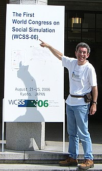 Nigel Gilbert at the 1st World Congress on Social Simulation, Kyoto, Japan, August 2006