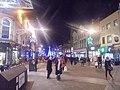 Night time view down Briggate, Leeds (21st December 2019).jpg