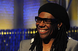 "Random Access Memories - Nile Rodgers appears on three songs on the album, including its lead single ""Get Lucky""."