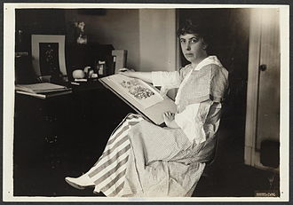 Nina E. Allender - Nina E. Allender at desk