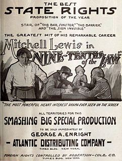 <i>Nine-Tenths of the Law</i> 1918 film by B. Reeves Eason