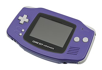 Game Boy Advance - The indigo version of the Game Boy Advance.
