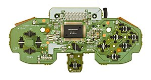 Nintendo 64 controller - The motherboard for the N64 controller.
