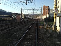 Nippo Main Line from Shinkawa Crossing (north).JPG