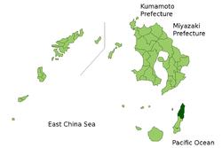 Vị trí của Nishinoomote ở Kagoshima (Kumage)